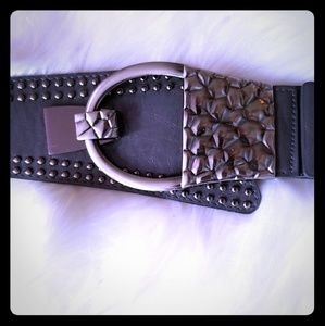 Gray belt with Silver Buckle